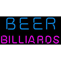 Beer Billiards Blue Pink Neon Sign