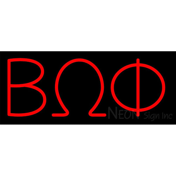 Beta Omega Phi Neon Sign 1
