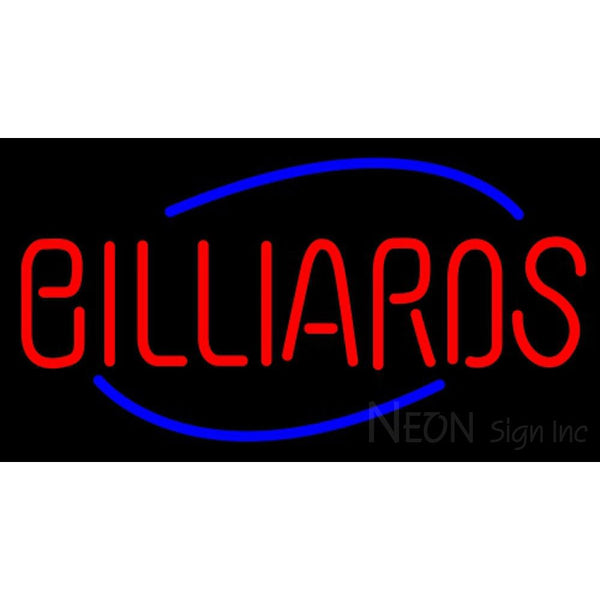 Billiards Oval Neon Sign 0002