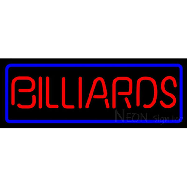 Billiards Red With Blue Border Copy Sign 0003