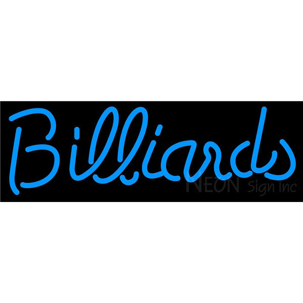 Billiards Text Pool Neon Beer Sign