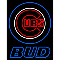 Blue Chicago Cubs Bud MLB Neon Sign