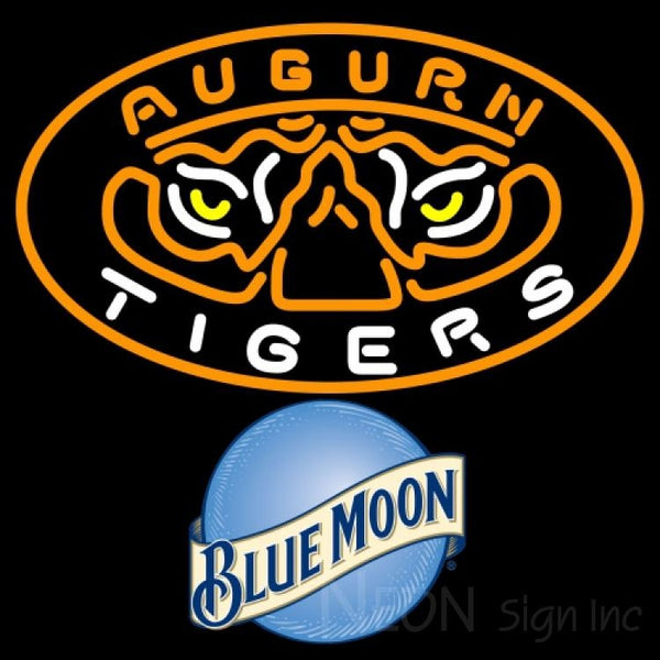 Blue Moon Auburn Tigers UNIVERSITY Neon Sign 4 0004