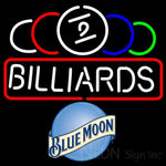 Blue Moon Ball Billiard Text Pool Neon Beer Sign 8 0004 24x24