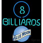 Blue Moon Ball Billiards Pool Neon Beer Sign 8 0003