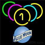 Blue Moon Billiard Rack Pool Neon Beer Sign