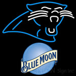 Blue Moon Carolina Panthers NFL Neon Sign