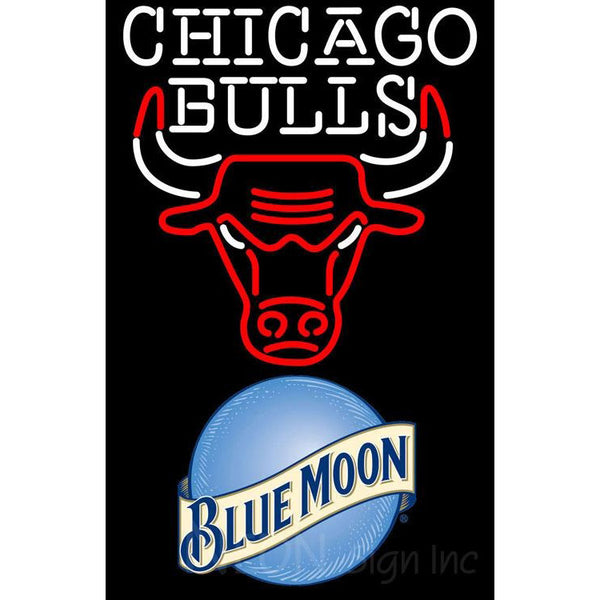 Blue Moon Chicago Bulls NBA Neon Sign