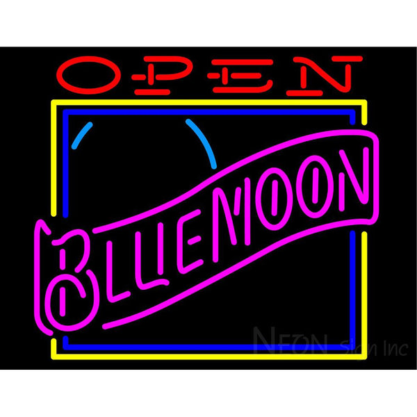 Blue Moon Classic Open Neon Beer Sign