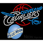Blue Moon Cleveland Cavaliers NBA Neon Sign