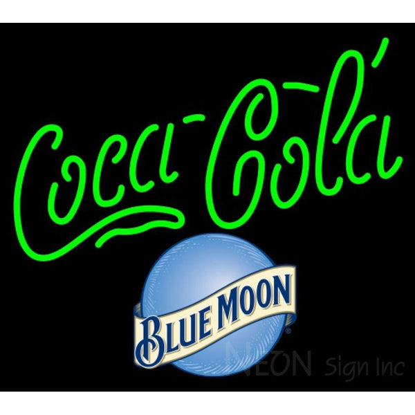 Blue Moon Coca Cola Neon Sign 10 0001