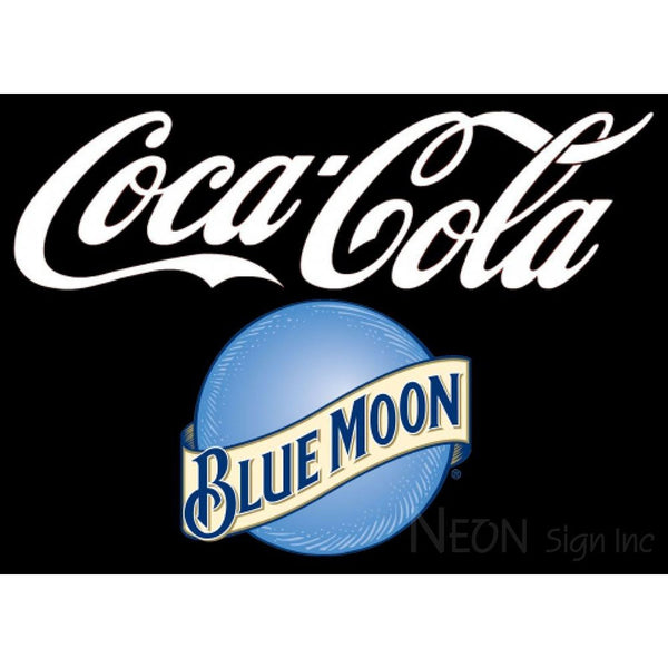 Blue Moon Coca Cola Sign 10 0002