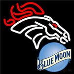Blue Moon Denver Broncos Nfl Neon Sign