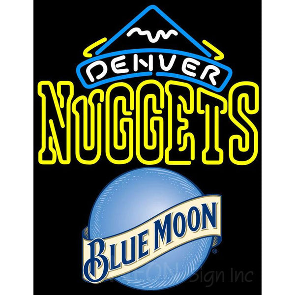 Blue Moon Denver Nuggets NBA Neon Sign