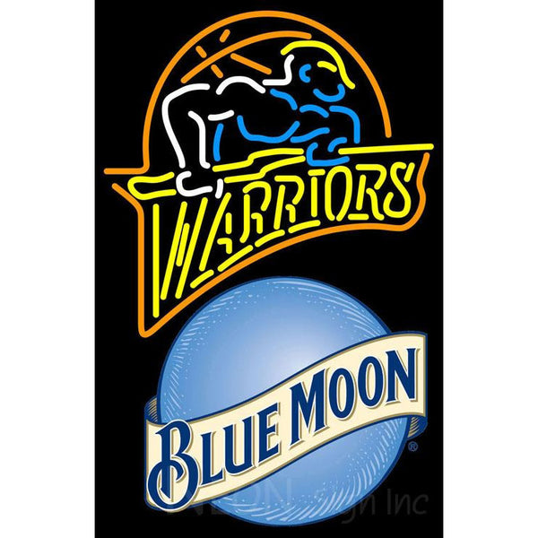 Blue Moon Golden St Warriors NBA Neon Sign