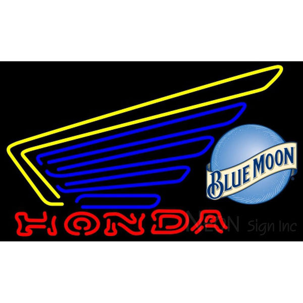 Blue Moon Honda Motorcycles Gold Wing Neon Sign 6 0003
