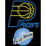 Blue Moon Indiana Pacers NBA Neon Sign