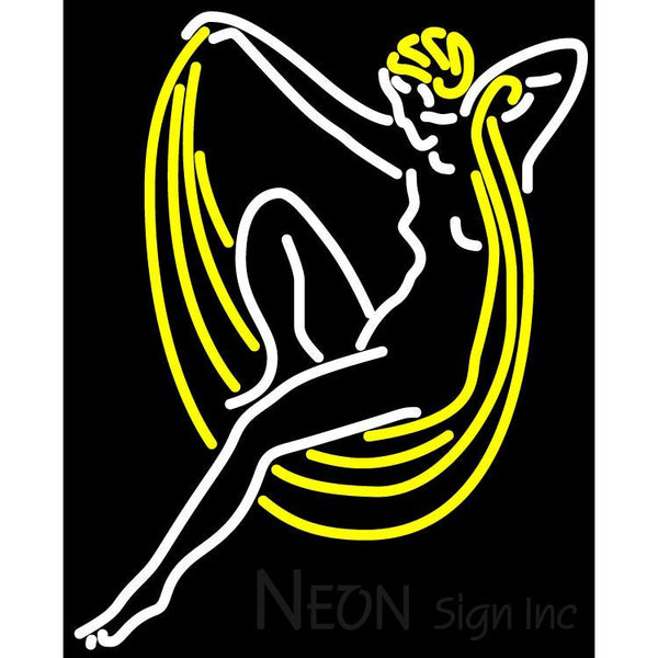 Blue Moon Lady Art Neon Beer Sign