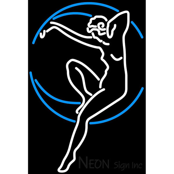 Blue Moon Lady Neon Beer Sign