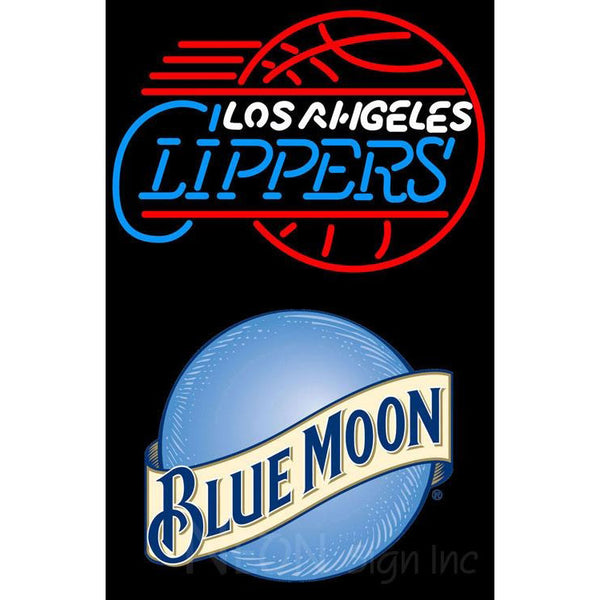 Blue Moon Los Angeles Clippers NBA Neon Sign