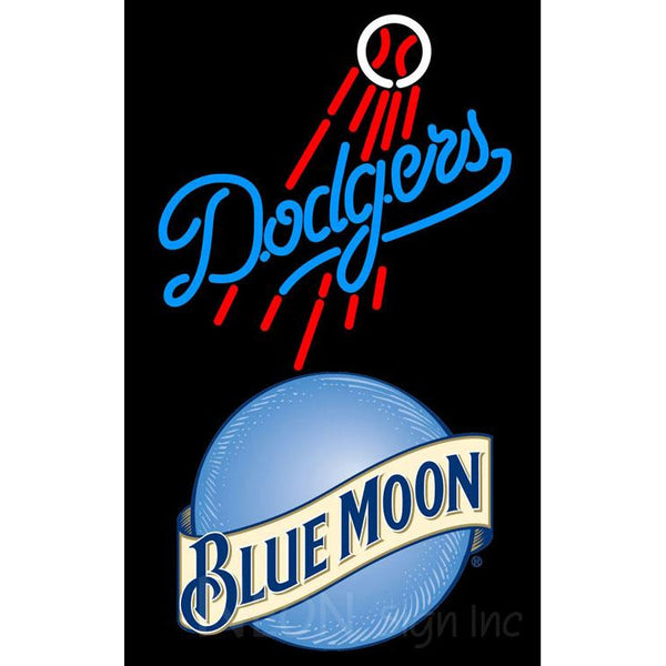 Blue Moon Los Angeles Dodgers MLB Neon Sign
