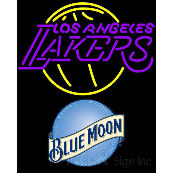 Blue Moon Los Angeles Lakers NBA Neon Sign