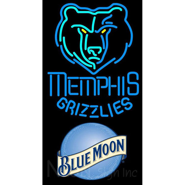 Blue Moon Memphis Grizzlies NBA Neon Sign