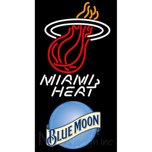Blue Moon Miami Heat NBA Neon Sign