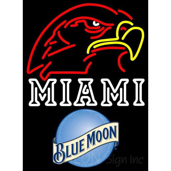 Blue Moon Miami UNIVERSITY Fall Session Neon Sign 4 0002