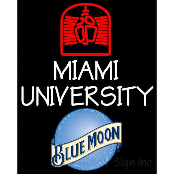 Blue Moon Miami UNIVERSITY Neon Sign 4 0002