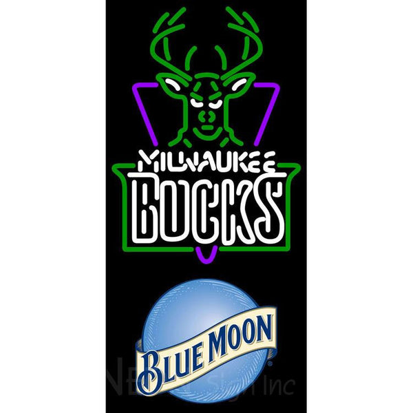 Blue Moon Milwaukee Bucks NBA Neon Sign