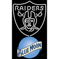 Blue Moon Oakland Raiders NFL Neon Sign