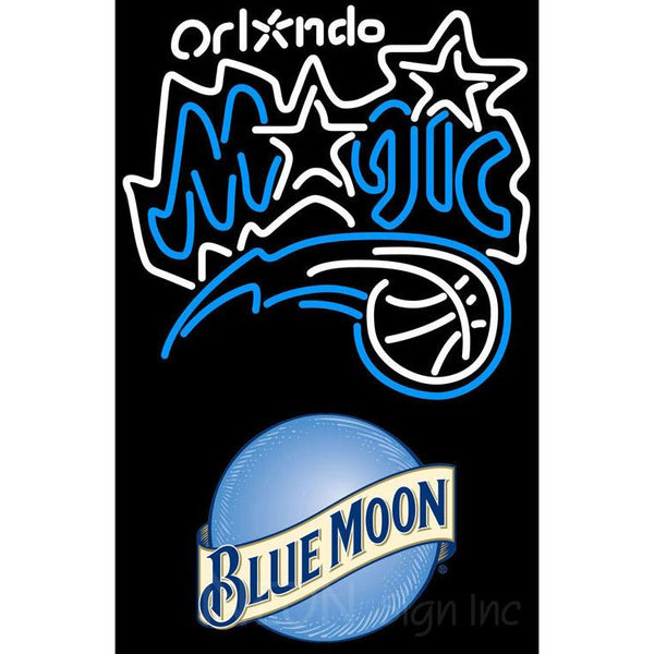 Blue Moon Orlando Magic NBA Neon Sign