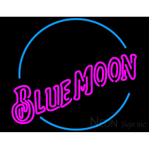 Blue Moon Pink Neon Beer Sign