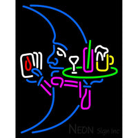 Blue Moon Poker With Beer Mug Neon Sign