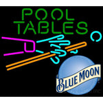 Blue Moon Pool Tables Billiards Neon Beer Sign 8 0011