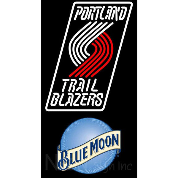 Blue Moon Portland Trail Blazers NBA Neon Sign