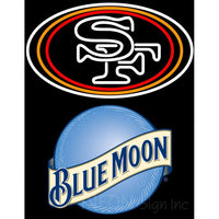 Blue Moon San Francisco 49ers NFL Neon Sign