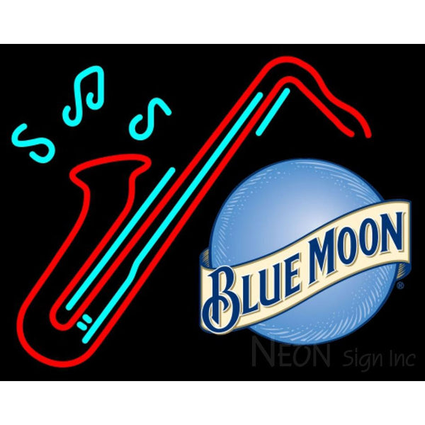 Blue Moon Saxophone Neon Sign 13 0001
