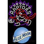 Blue Moon Toronto Raptors NBA Neon Sign
