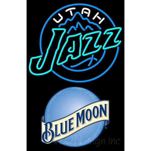 Blue Moon Utah Jazz NBA Neon Sign