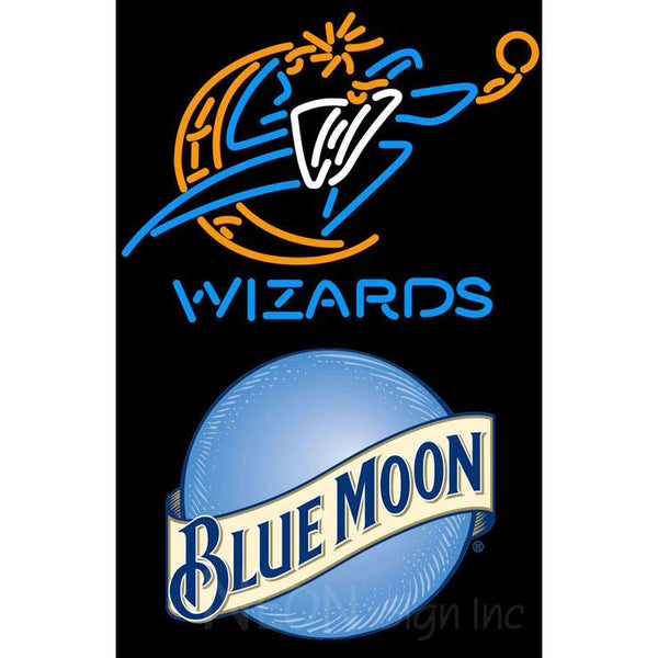 Blue Moon Washington Wizards NBA Neon Sign