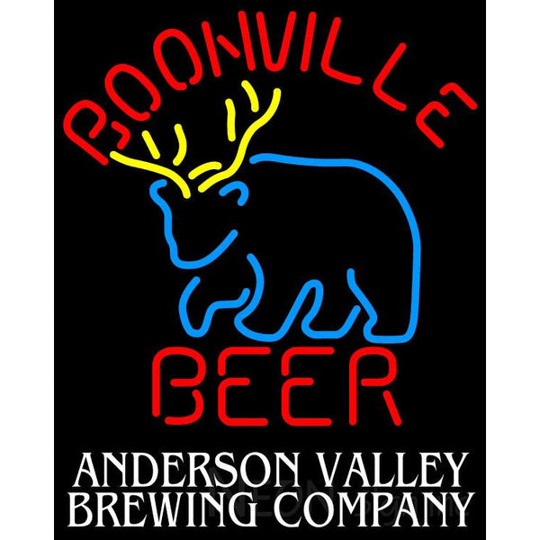 Boonville Beer Deer Anderson Valley Neon Beer Sign