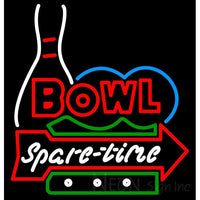Bowl Spare Time Neon Sign