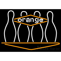 Bowling Orange Neon Sign
