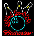 Bowling Pool Neon Beer Sign