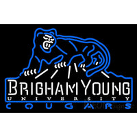 Brigham Young Cougars Primary 1999 2004 Logo NCAA Neon Sign