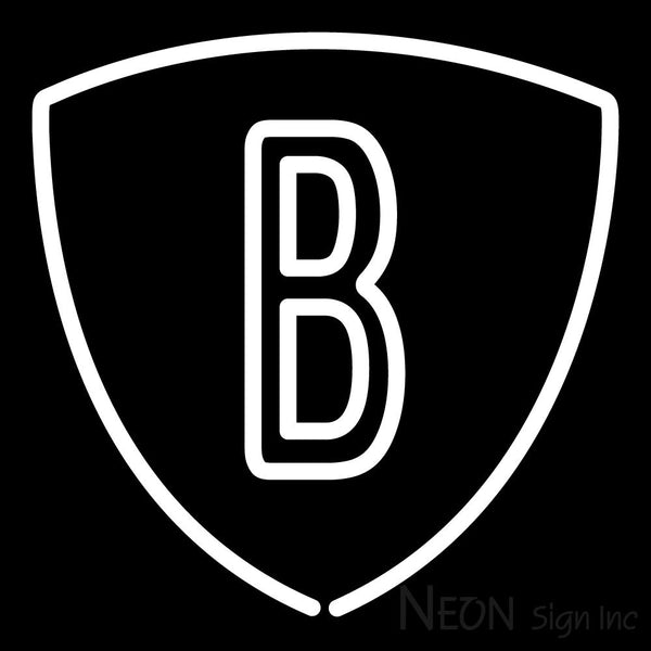 Brooklyn Nets Secondary 2012 13 Pres Logo NBA 2 Neon Sign 16x16