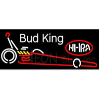 Bud King Nhra Dragster Neon Beer Sign