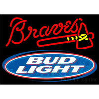 Bud Light Atlanta Braves MLB Neon Beer Sign 1